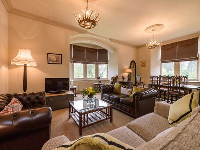 Photo for Luxury Self Catering Apartment with Swimming Pool in the Grounds of a Monastery on Loch Ness
