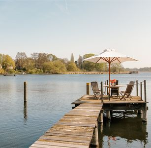 Photo for Havel apartment with jetty, great view of the lake, near Potsdam and Berlin