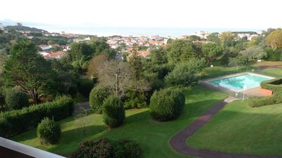Photo for Biarritz, Luxury apartment, Magnificent view ocean and mountains, Residence with swimming pool and park