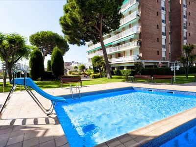 Photo for MEDITERRANI - Apartment 5 minutes from the beach, with pool, tennis, football, basketball.