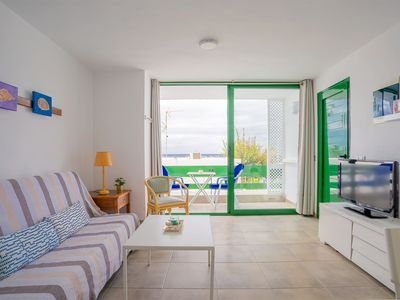 Photo for Beautiful Apartment in Dreamlike Location on Beach with Wi-Fi, Balcony & Incredible Views