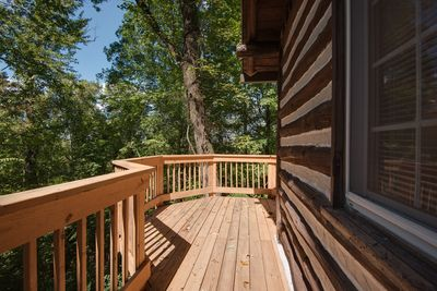Wrap around Deck off the Screened Porch area