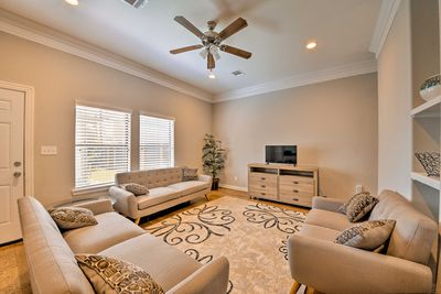 This 3-bed, 2-bath home comfortably sleeps 8.