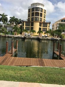 Photo for 2 story unit that is a walk to the beach and waterfront condo with Private dock