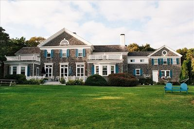 Overlooking Nantucket Sound and large lush lawns and gardens!