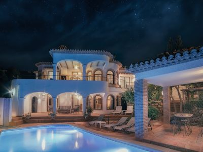 Photo for Authentic Andalusian villa with private pool and sea view