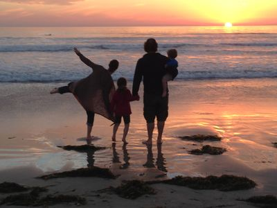 Walk to the beach near our home for terrific sunsets (and any other time, too!).