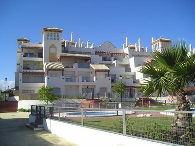 Photo for Furnished apartment, with pool, garage and sea views