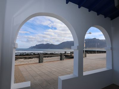 Photo for Very nice house at 10 m from the sea with patio and garden at Caleta de Famara