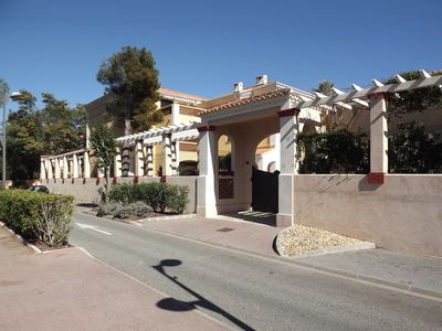 Photo for 60m2  two bedrooms apartment direct access to the sea 150m2  garden 2 parkings