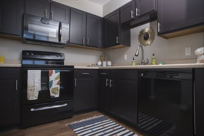 Beautiful Kitchen with Espresso Cabinets