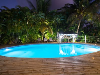 Photo for Villa with pool, tropical garden, vacation property, St-François
