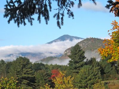 Whiteface looks different every day. Picture taken from inside living room!