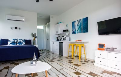 Photo for ★ Ocean Loft | Eco-Friendly Studio | Ocean View Balcony | Steps from the Beach ★