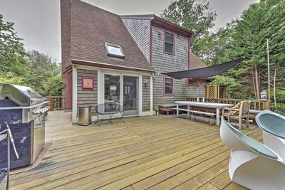 This vacation rental home for 6 promises a relaxing retreat in Dennis!
