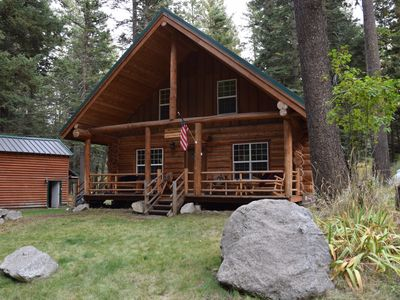 Explore the Wallows while enjoying the comforts of a log cabin