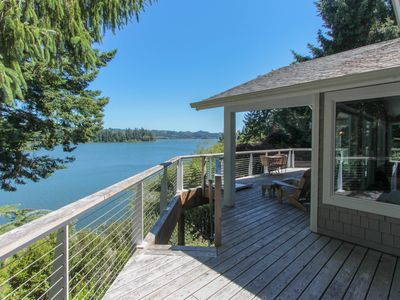 Photo for Lakefront home w/ private dock & multi-level deck - near beaches/dunes!