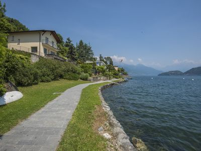 Photo for Unique Lakefront Villa On Lake Como! Ideal for a family or a group of friends