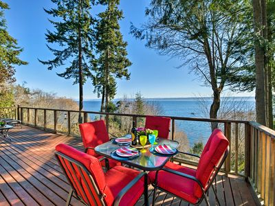 Photo for NEW! Waterfront Kingston Home w/ Deck & Pvt. Beach