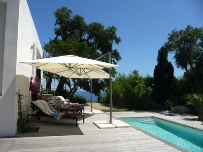 Photo for Ultra-stylish villa, stunning views, fabulous 12m pool, minutes from sea/shops