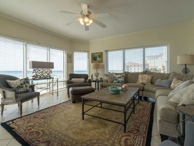 Photo for EMERALD ISLE 108 PENSACOLA BEACH FL LUXURIOUS UPSCALE 3 BD/2 BA 1ST FLOOR OCEAN FRONT CONDO
