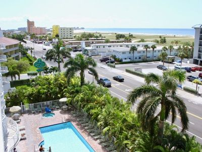 Photo for New Listing! Fantastic 2BR Apartment, Walk To The Beach, Pool, Balcony, Parking