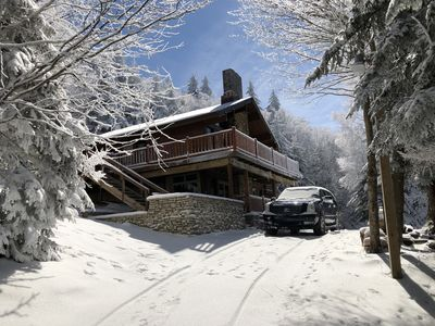 Photo for Beautiful Ski In-Ski Out Chalet near the top of the Western Express Ski Lift.