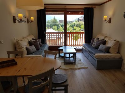 Photo for Apartment Duplex comfort all renovated - 6 pers - Close to ski slopes