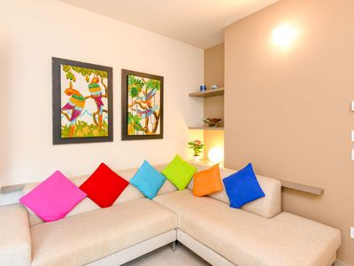Photo for Beautiful apartment for 4 guests with A/C, pool, TV and terrace