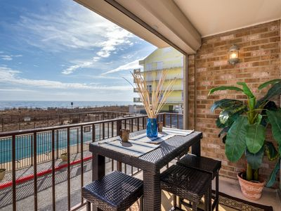 Photo for Coffee & Sunrises - Beautiful Updated Oceanfront Condo w/ Pool!