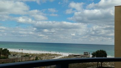 Photo for Award winning beach front Nautilus building, huge balcony 2BR/2BA, heated pool