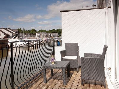 Photo for Modern Waterfront Boathouse With Beautiful Balcony On Windermere Marina