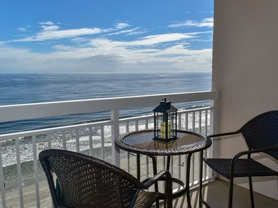 Photo for Oceanfront 2 Bedroom/2 bath condo. King, 2 queens, queen sleeper sofa.  Indoor, outdoor pool, lazy river, jacuzzi, kiddie pool.