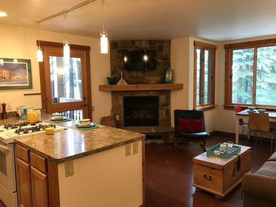 Photo for Modern Ski Trails slopeside condo: Ski-in & Ski-out - Be Home for Lunch!!