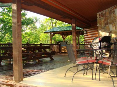 Deck, Hot Tub, Covered Porch