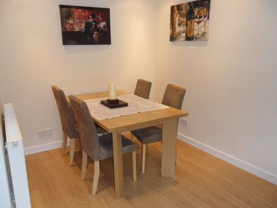 Dining area seating for 4 people