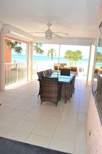 Private large covered patio area