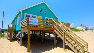 "Photo for This DOG FRIENDLY Outer Banks vacation rental cottage ""Seahorse"" is right on the"