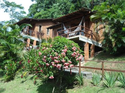 Photo for Bungalows Canto das Águas, waterfall with natural pool