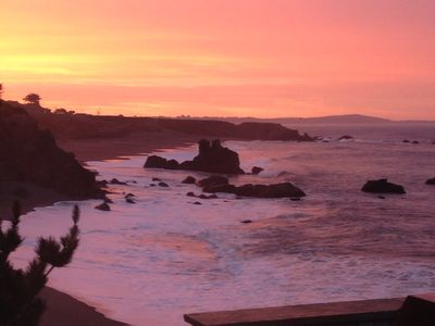 Photo for Best views on Sonoma Coast! On Beach. fire pit, hot tub, pets considered