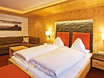 "Photo for Mountain and hiking experience in the room ""Zirbenstein"" - Alpenhof, country hotel"