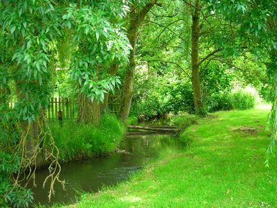 Photo for Tranquil riverside cottage in grounds of watermill.