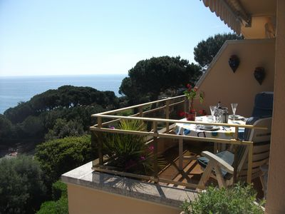 Photo for Stylish apartment with stunning sea views close to the beach
