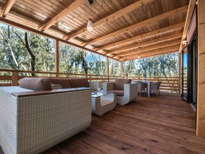 Photo for Fantastic mobile home for 6 persons on the beach of Bale near Rovinj