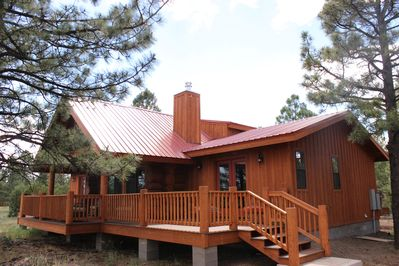 front deck of chalet
