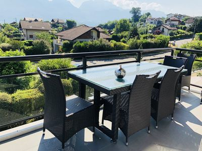 Photo for SEVRIER, Apartment LAKE VIEW, Terrace, 5PERS