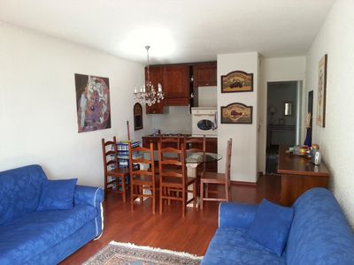 Photo for Nice one bedroom apartment in Les Deus Alpes, central location, 4 beds + 1, on the slopes