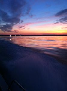 Rest and relaxation at The Captains Get-Away.  A sunset cruise with the Captain