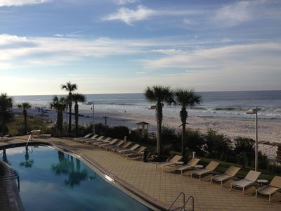 Photo for CALYPSO Oceanfront 2nd floor~Free Beach Service & Wifi~Pier Park Across Street