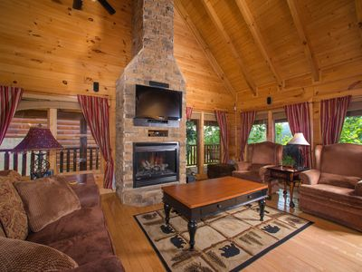 Photo for Spacious, dog-friendly cabin w/ jetted tub, hot tub, shared pool, & mtn views